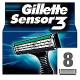 Gillette Lames de Rasoir pour Homme Sensor3, x 8