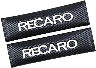 2pcs RECARO Carbon Fiber look for Car Seat Belt Cover Pads Shoulder Cushion New