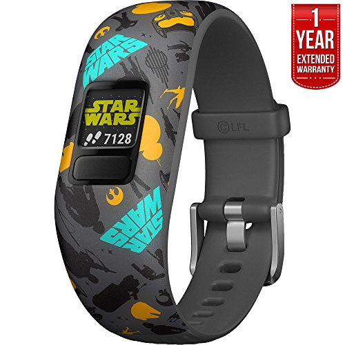 Beach Camera Garmin Vivofit jr. 2 - Stretchy Adjustable Activity Tracker for Kids + 1 Year Extended Warranty (Star Wars Resistance)