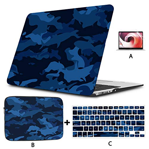 Macbookpro Case Camouflage Protective Military Cool Style Macbook Accessories Hard Shell Mac Air 11'/13' Pro 13'/15'/16' With Notebook Sleeve Bag For Macbook 2008-2020 Version
