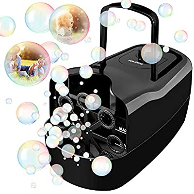 TOLOCO Bubble Machine,Automatic Bubble Blower Portable Bubble Maker for Kids,3000 Bubbles Per Minute,Plug-in or Batteries,for Outdoor/Indoor Party Birthday from TOLOCO