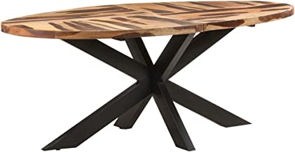 vidaXL Stół jadalniany, owal, 200x100x75cm cm, akacja w stylu sheesham