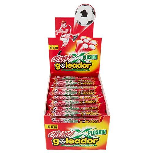 Goleador Xplosion Cherry, Caramelle Gommose Ripiene, Aroma Ciliegia, Box da 150 Caramelle Incartate Singolarmente - Idee Regalo per Compleanni e Feste