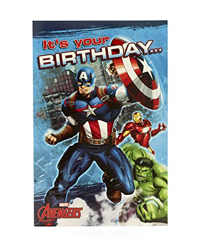 Carlton 787618–0Marvel Avengers Captain America Geburtstagskarte