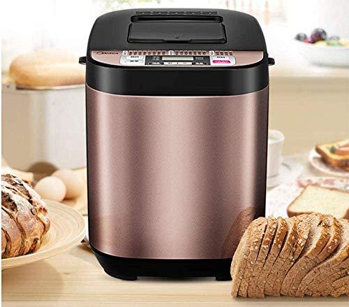 Máquina de pan para máquina de pan, automática, multifunción, función de pan congelado, crema, descongelar, recalentar masa, licuadora antiadherente, cuenco para mezclar champán champán