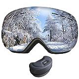 Snowboard Occhiali da Sci Maschera da Sci Uomo Polarizzata OTG Super-grandangolo Occhiali da Neve e Staccabile Lenti Antiappannamento Antivento di Protezione UV400 per Donna