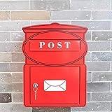 Scatola di immagazzinaggio Lettera Design senza tempo, casella di posta in acciaio zincato con la cassetta postale parete del vano giornale, la posta in formato slot for riviste e giornali A4 mailbox