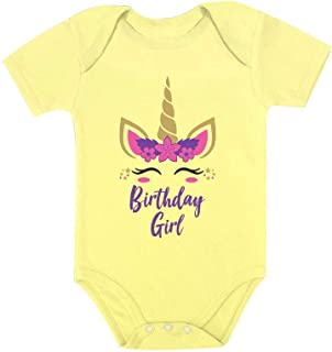 Tstars Birthday Girl Unicorn Outfit Gifts for Baby Girls' Baby Bodysuit
