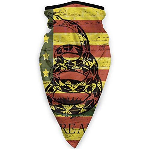 C/N bandera americana no pisar serpiente al aire libre cara máscara de la boca a prueba de viento deportes máscara de esquí escudo bufanda bandana hombres mujer snood bufanda
