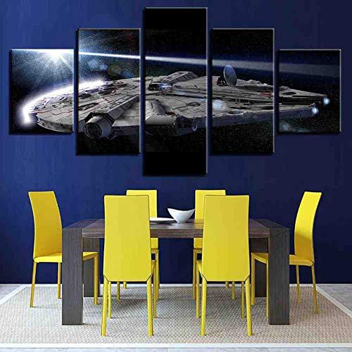 Giage Modern schilderij met print voor thuis, decoratie, frame, HD-kunst, 5 panelen, ruiten, schilderen op canvas, motief: Afbeeldingen senza cornice 30x40 30x60 30x80cm