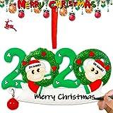 Sayala Adorno de Navidad Familiar Personalizado 2020 Familia de supervivientes Decoración Colgante de Navidad Personalizada DIY (2)