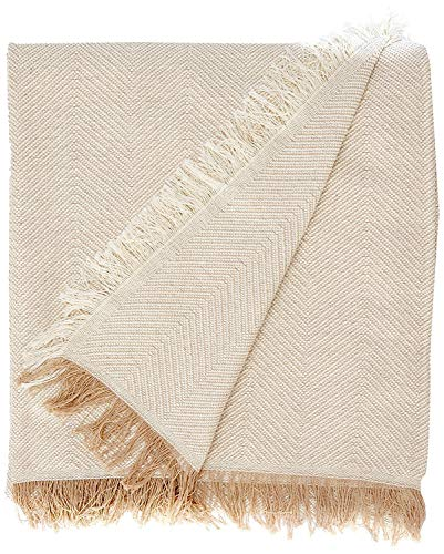 Martina Home, Espiga, Bettüberwurf, Mehrzweck/Plaid 180 x 260 cm Beige (Crudo Beige)