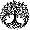 """Master Cut Tree of Life Metal Wall Art Hanging Sculpture for Home Decor Abstract Wall Art - Material - Mild Steel with Black Powder Coating - Size - H 30"""" x W 30"""" - 2mm Thickness by S.R. Industries"""