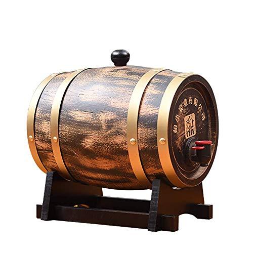 Barril De Vino De Madera Barril de vino de madera de roble, Dispensador de barril de vino de madera especial Cubo de almacenamiento de 3L Barriles de cerveza, para barril de envejecimiento de whisky,