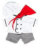 Chef Outfit Teddy Bear Clothes Outfit Fits Most 14 - 18 Build-a-bear, Vermont Teddy Bears, and Make Your Own Stuffed Animals by Stuffems Toy Shop