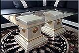 InterDecorShop Designer Couchtisch Medusa Marmor Optik Wohnzimmertisch Tisch Glastisch