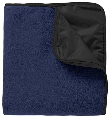 Port Authority Fleece & Poly Travel Blanket_True Navy/ Black_OSFA