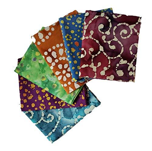 DL Batik Fabric Collection   Fat Quarter Bundle   Precut Quilting Cotton   Set of 6