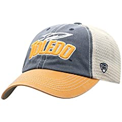 Toledo Rockets Men's apparel hat.  Perfect hat for gameday tailgates or cruising the town supporting your Rockets High quality and comfortable relaxed fit unstructured curved bill hat with mesh backing perfect for any Toledo Rockets fan This Toledo R...