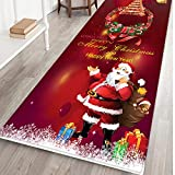 AMhomely Christmas Decorations Sale, Merry Christmas Welcome Doormats Indoor Home Carpets Decor 40x120CM Merry Christmas Decorative Xmas Decor Ornaments Party Decor Gifts