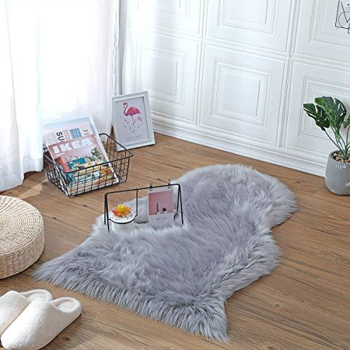 KAIHONG Faux Fur Sheepskin Style Rug (50 x 80 cm) Faux Fleece Chair Cover...