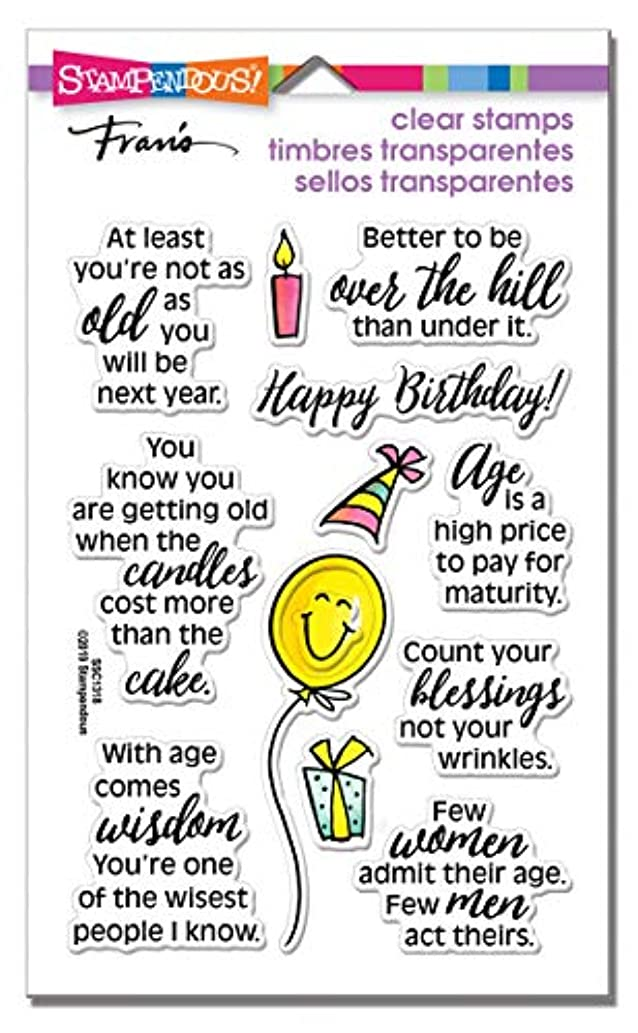 Stampendous SSC1318 Birthday Fun Perfectly Clear Stamp Set
