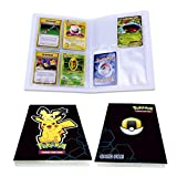 Pokemon Card Holder Binder, Book Best Protection Album Trading Cards GX EX, Can Hold 240 Cards - (New Pikachu)