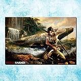 H/H Tomb Raider Lara Croft Kunst Leinwand Poster DIY