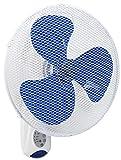 Bestron Wandventilator mit Fernbedienung, Dauernutzung von 7,5h, Höhe: 50 cm, Ø 40 cm, 45 W, Weiß