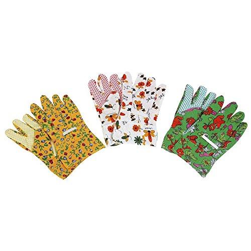 Verdemax 4936:Pequeño Guante de algodón para jardín con diseño de fantasía