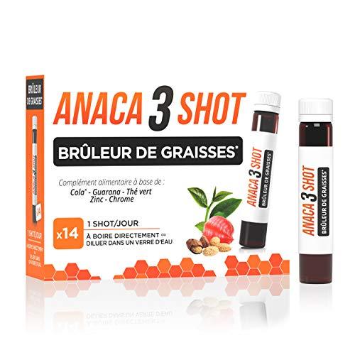 Anaca3 – Shot Brûleur de Graisses (1) – Triple Action Ciblée Graisses – Boîte de 14 shots à Boire – Shot de 25 ml