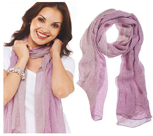 Style 101 Light Pink Colored Sparkling Shawl - By Ganz