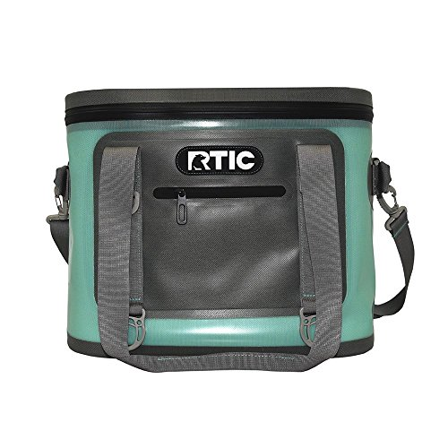 RTIC Insulated Soft Cooler Bag, Leak Proof Zipper, Keeps Ice Cold for Days, 30, Seafoam Green