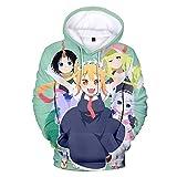 Anime Miss Kobayashi's Dragon Maid Hoodie 3D Print Cute Kanna Hoody Sweatshirt Pullovers Loose Casual Tops