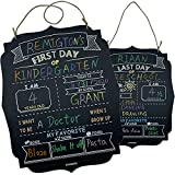 First Day of School Board, Personalized 1st Day and Last Day of School Chalkboard Sign, Back to School Sign Reusable, 14.5' X 11.5', 2-in-1 Double-Sided Milestone Photo Prop End of The Year Sign