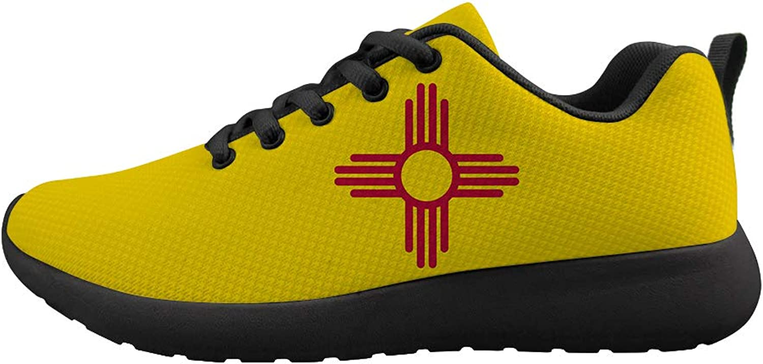 Owaheson Cushioning Sneaker Trail Running shoes Mens Womens New Mexico Flag