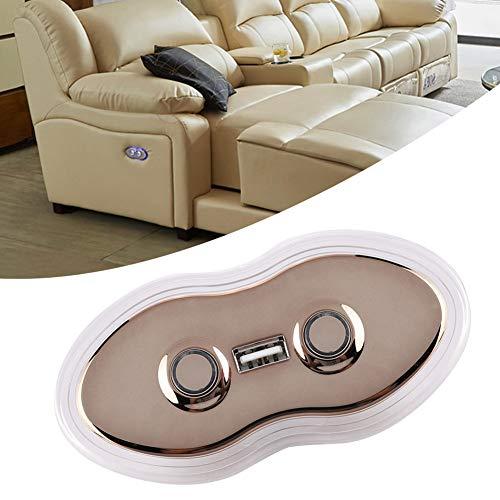 Afstandsbediening met 2 knoppen, afstandsbediening voor handmatige schakelaar, stoel, elektrische hellingsstoel, bankovertrek, afstandsbedieningen met USB-poort (5 pins)