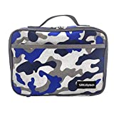 Insulated Lunch Bag, 600D Oxford Cloth Portable Leakproof Food Drink Camo Lunch Bag