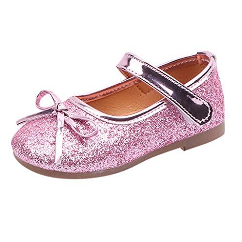 Zapatos de Vestir para Niñas Primavera 2019, Fiesta Boda Lentejuelas Verano Calzado Bebe Primeros Pasos Bailarinas Danza Suela Blanda Princesa