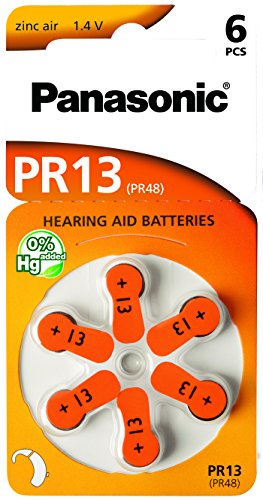 30 Stück (5 Blister) Panasonic Typ 13 Hörgerätebatterie Zinc Air P13 PR48 ZL2 mit 2 Stück LUXTOR® Reinigungstücher für Hörgeräte und Otoplastiken