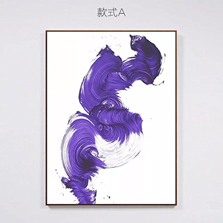marca de lujo ZHUDJ Pintado De Marrón Color Color Color Café Y Pintura Pintura Decorativa Arte Mural Minimalista Salón Resúmenes,4055,Marco Negro  seguro de calidad