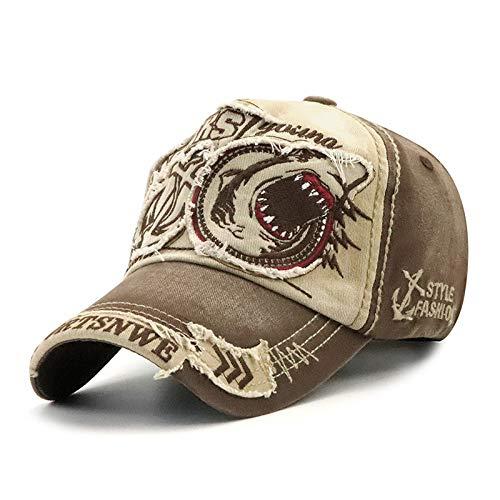 Gorra de bisbol Lavada, Hombres y Mujeres, Tendencia con Personalidad de tiburn, Gorras Europeas y Americanas, Sombreros para el Sol de Primavera y otoo