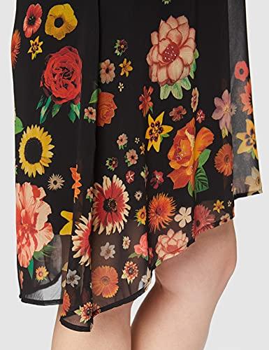 Desigual Vest_Lugano Vestido Casual, Negro, L para Mujer