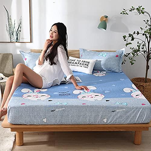 CYYyang colchón Acolchado, antialérgico antiácaros, Sábana Impermeable de un Solo Producto hotel-23_180cm × 200cm