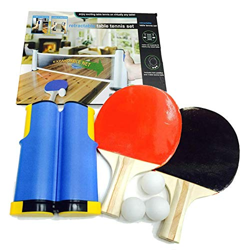 Why Choose Portable Ping Pong Set Retractable Table Tennis Nets 1 Retractable Net + 2 Paddles + 3 Ba...