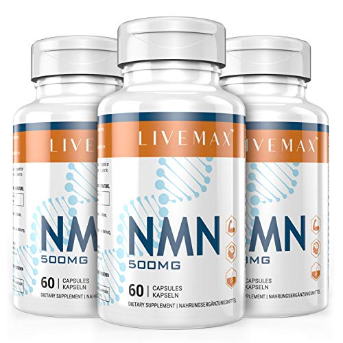 NMN Nicotinamide Mononucleotide Supplement, NAD Booster Supplement, Vitamin B3 Family - Support NAD, Anti Aging Skin Cell Health & Energy (livemax-3 Pack)