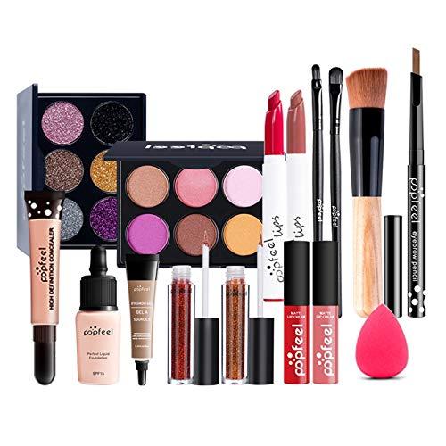 Pure Vie Kit de maquillaje multiusos Paleta de Maquillaje Set Paleta de Sombras de Ojos Juego de Maquillaje Kit de Maquillaje para Mujeres y Niñas Caja de Regalo Cosméticos #083