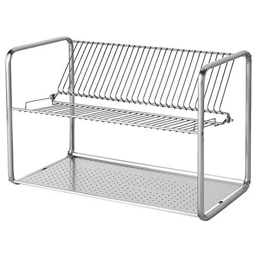 ORDNING Escurridor de platos de acero inoxidable 50x27x36cm IKEA
