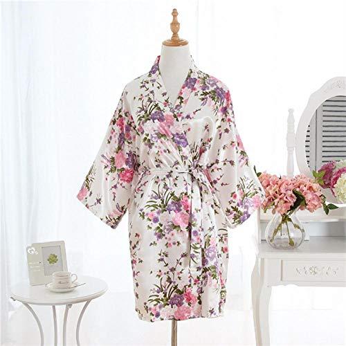 BKHBJ YUP Winter-Kimono/Bademantel für Damen, dick, warm, Korallen-Fleece, für Paare, für Paare, für Damen, lang, als Geschenk für Hotel oder Urlaub, Satin-Bademantel, XXL