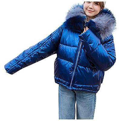 ? HebeTop ? Women's Cotton Thicken Padded Parka Winter Warm Jacket Fur Hood Coat